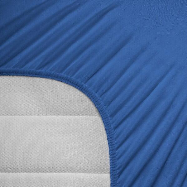 Elastické prostěradlo Hoeslaken 80-100x200 cm, modré