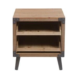 Noční stolek z laminovaného jedlového dřeva a železa Santiago Pons Fabric