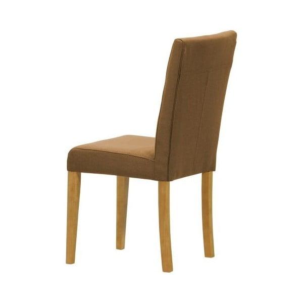 Sada 2 židlí Monako Etna Brown, přírodní nohy