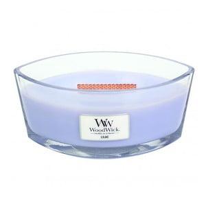 Lumânare parfumată WoodWick, aromă de liliac, 80 ore