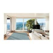 Světle modrý vysoce odolný koberec vhodný do exteriéru Floorita Braid, 133x190cm