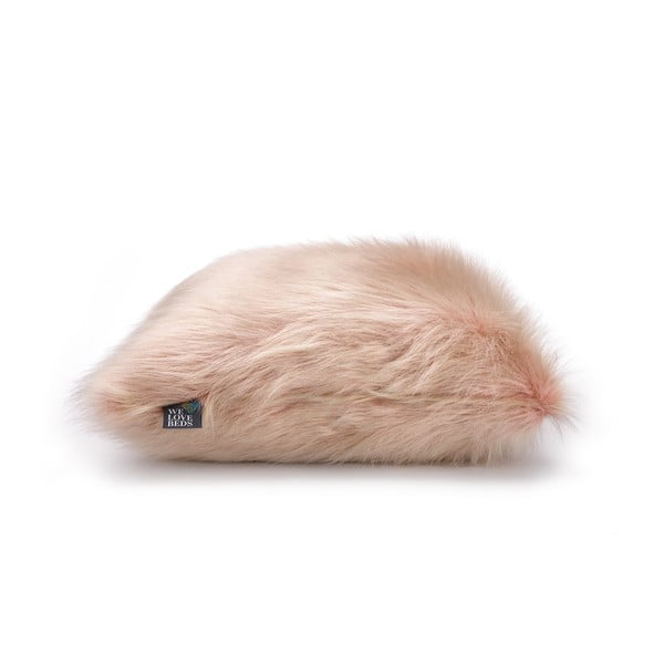 Față de pernă WeLoveBeds Fluffy, 50 x 50 cm, roz
