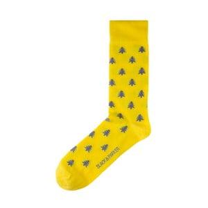 Žluté ponožky Black&Parker London Belsay Hall, velikost 37 – 43