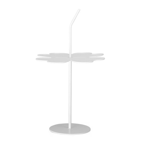 Bílý odkládací stolek Garageeight A Four Leaf