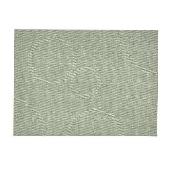 Prostírání s kruhy, světle zelené 40x30 cm