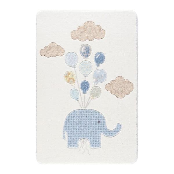 Confetti Sweet Elephant fehér gyerekszőnyeg, 133 x 190 cm