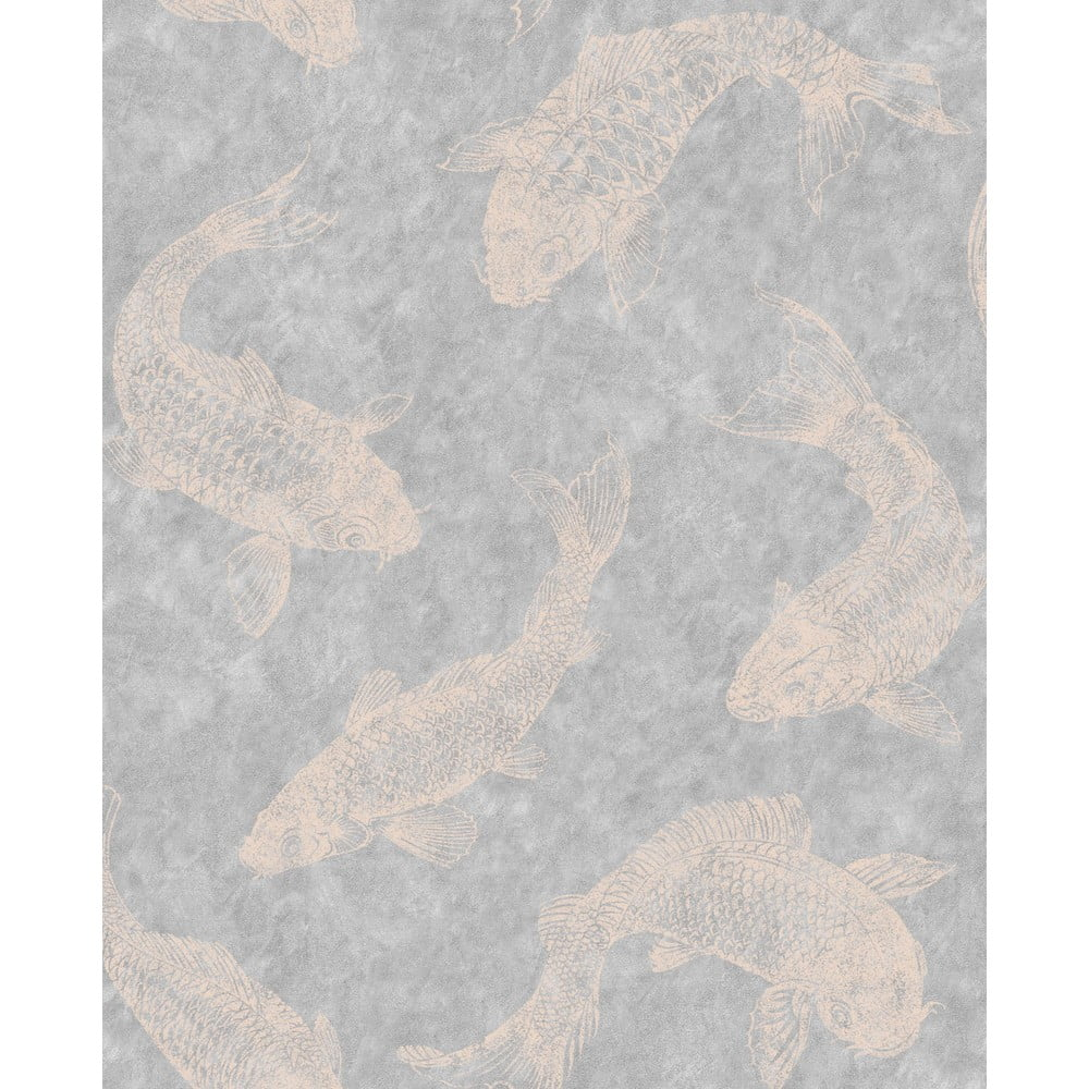 Šedá nástěnná tapeta Graham & Brown Pisces Slate, 0,52x10m