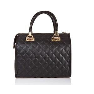 Černá kožená kabelka Massimo Castelli Felice