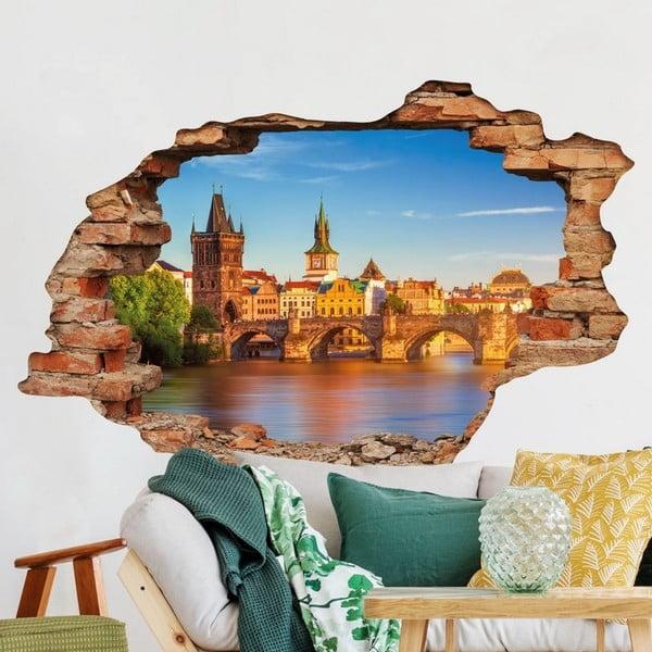 Autocolant perete 3D Ambiance Praga Staré Město and Karlův Most, 90 x 60 cm