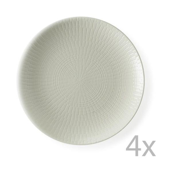Sada 4 dezertních talířů Granaglie Creme, 21 cm