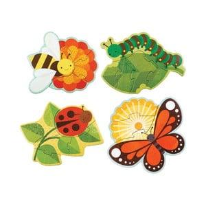 Sada 4 skládaček Petit collage Garden Bugs