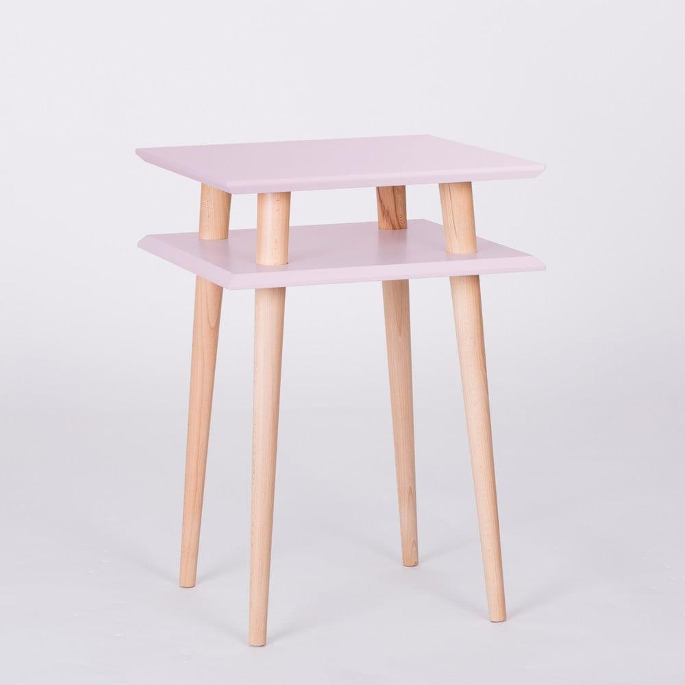 Růžový konferenční stolek Ragaba Square, 43 x 43 cm