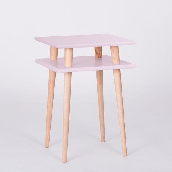 Růžový konferenční stolek Ragaba Square, 43x43cm
