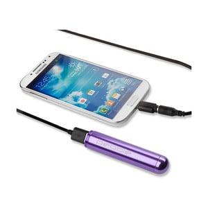 Fialová cestovní nabíječka Pebble Smartstick VPP-004