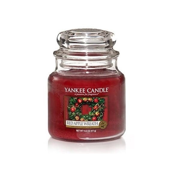 Vonná svíčka Yankee Candle, Věnec z červených jablíček, velká