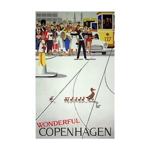 Poster Architectmade Wonderful Copenhagen, 50 x 70 cm