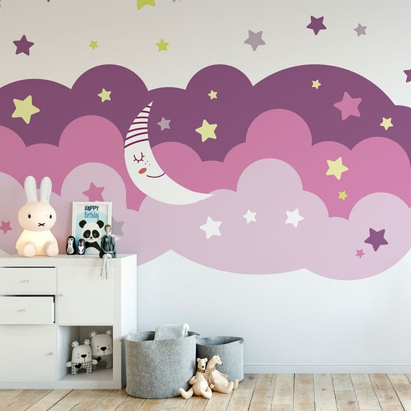 Autocolant Ambiance Scandinavian Clouds Starry Sky