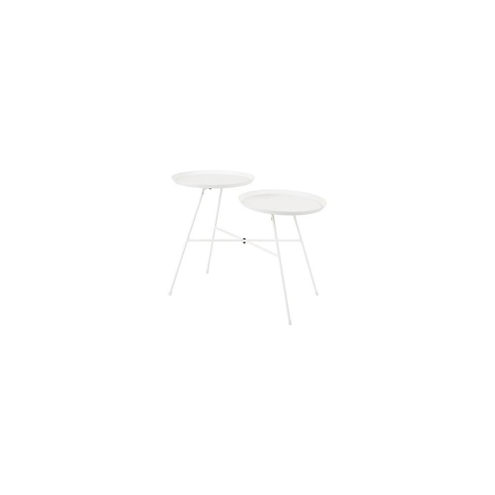 Bílý odkládací stolek Indy