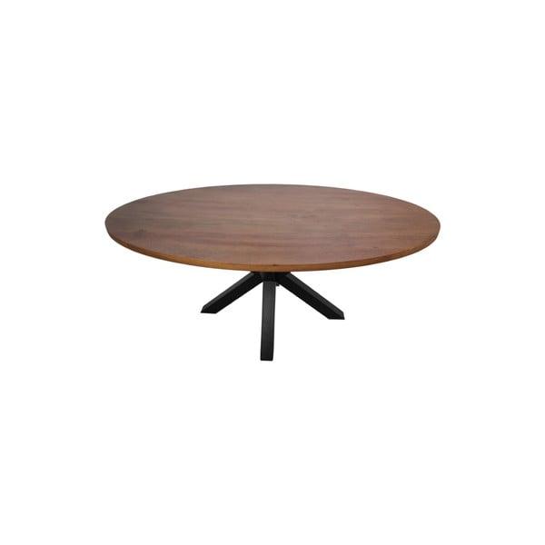 Oválná deska jídelního stolu zmangového dřeva HMS collection,180x100cm