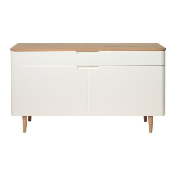 Amalfi alacsony fehér tölgyfa komód - Unique Furniture
