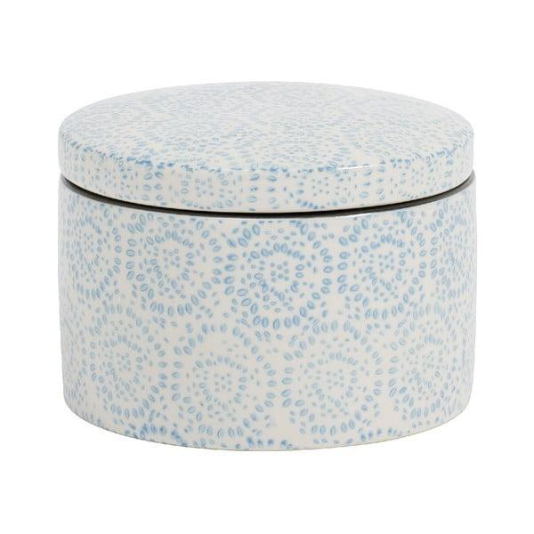 Dóza Blossom Fluff 7 cm, modrá