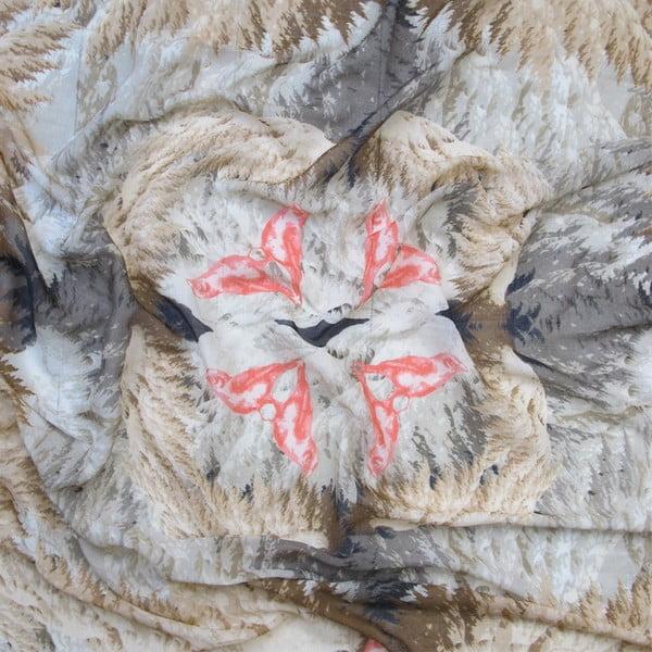 Vlněný šátek s kašmírem Winx, 130x130 cm