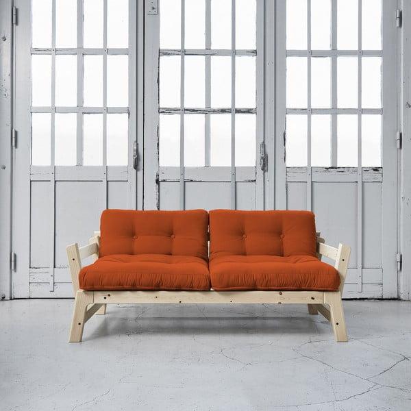 Rozkládací pohovka Karup Step Natural/Orange