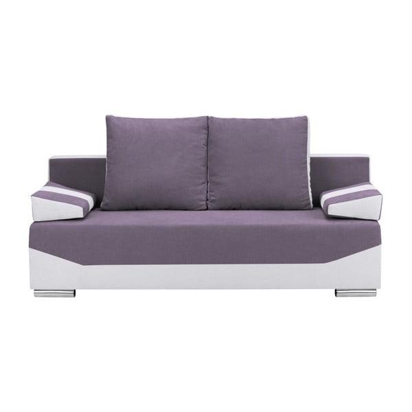 Marcel lila-szürke háromszemélyes kanapé ágyneműtartóval - Melart