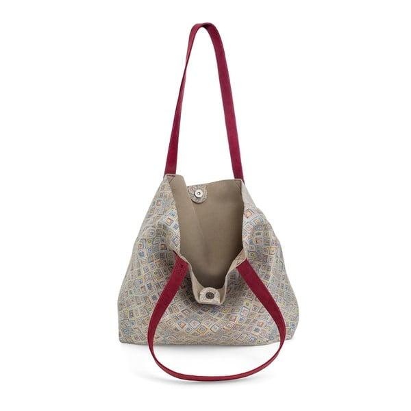 Světle šedá kožená kabelka Woox Rostellum