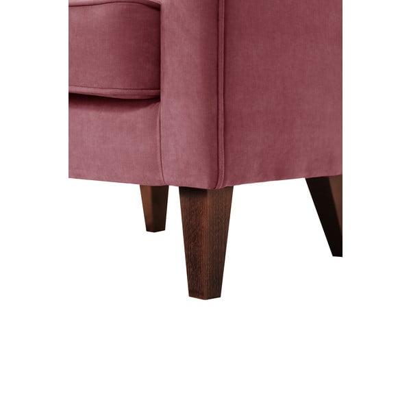 Růžovočervené křeslo Jalouse Maison Kylie
