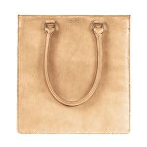 Pískově hnědá kožená kabelka s delším uchem O My Bag