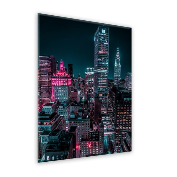 Obraz Styler Glasspik Neon Manhattan, 80 x 120 cm