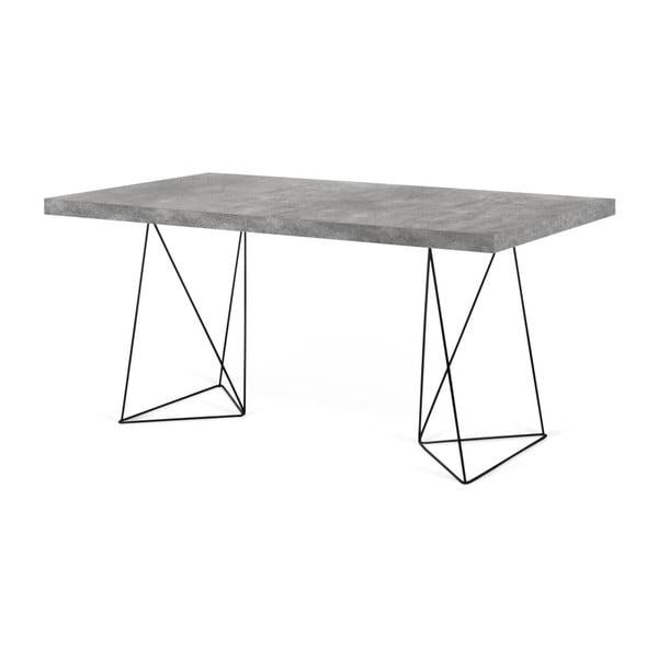 Birou cu picioare metalice TemaHome Multi, decor beton