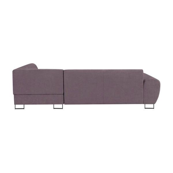 Fialová rohová rozkládací pohovka s úložným prostorem Kooko Home XL Left Corner Sofa Piano