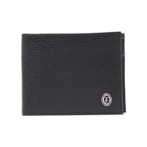 Černá pánská kožená peněženka Trussardi Marinero, 12,5 x 9,5 cm