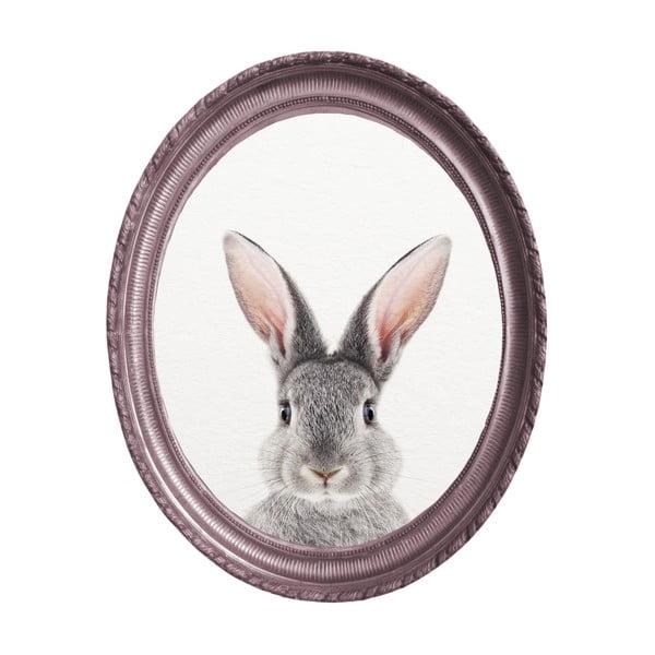 Tablou oval de perete cu ramă Really Nice Things Rabbit, 40 x 50 cm