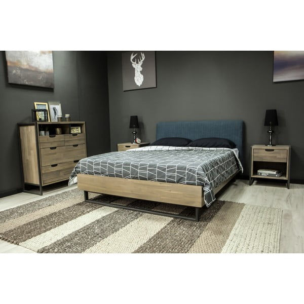 Jednolůžková postel z akáciového dřeva Livin Hill Flow, 149 x 217 cm