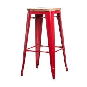 Červená barová židle D2 Paris Ash Wood
