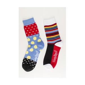 Sada 2 párů ponožek Funky Steps Salsa, univerzální velikost