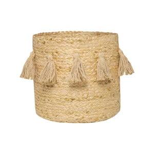 Béžový ručně tkaný box z konopného vlákna Nattiot, Ø 30 cm