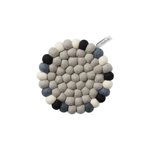 Vlněná podložka Trivet Grey/Multi, 17 cm