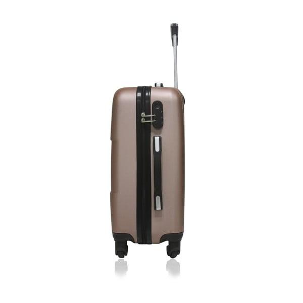 Cestovní kufr v růžovozlaté barvě na kolečkách Hero Coronado, 91l