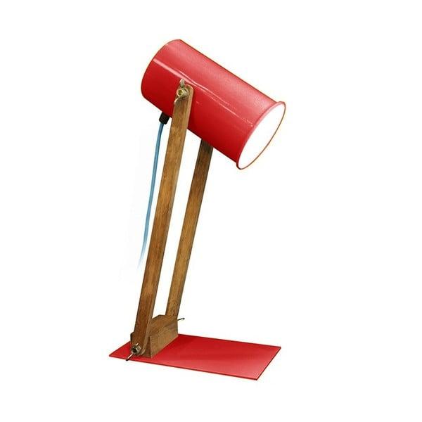 Červená stolní lampa Baltic, 45 cm