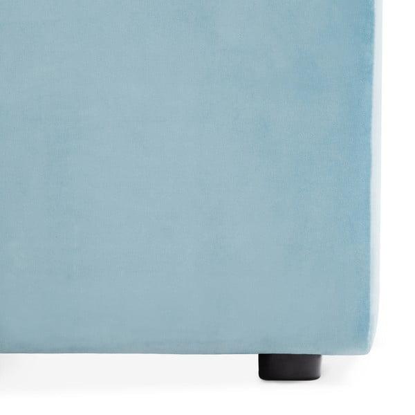 Světle modrý pravý rohový modul pohovky Vivonita Velvet Cube