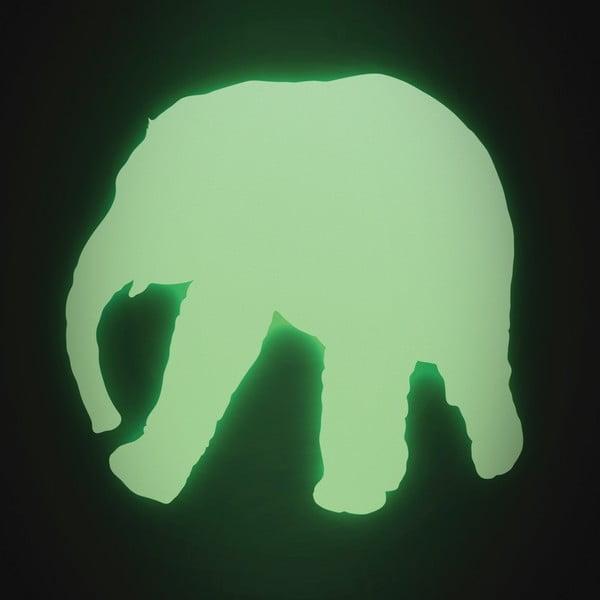 Samolepka svítící ve tmě Slon