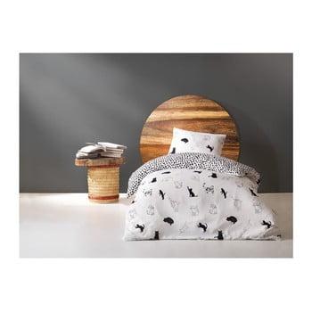 Lenjerie din bumbac pentru pat de o persoană Dotty, 160 x 220 cm de la EnLora Home