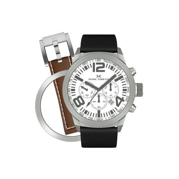 Unisex hodinky Marc Coblen s páskem a kroužkem navíc P16