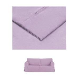 Světle fialový povlak na rozkládací trojmístnou pohovku THE CLASSIC LIVING Morgane