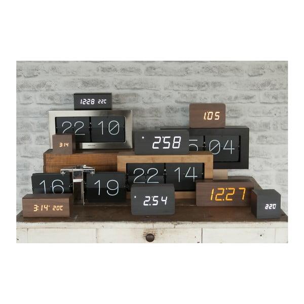 Ceas alarmă, decor lemn, Karlsson Cube, 21 x 9 cm