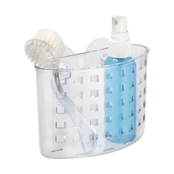 Transparentní samodržící košík iDesign Suction Bath